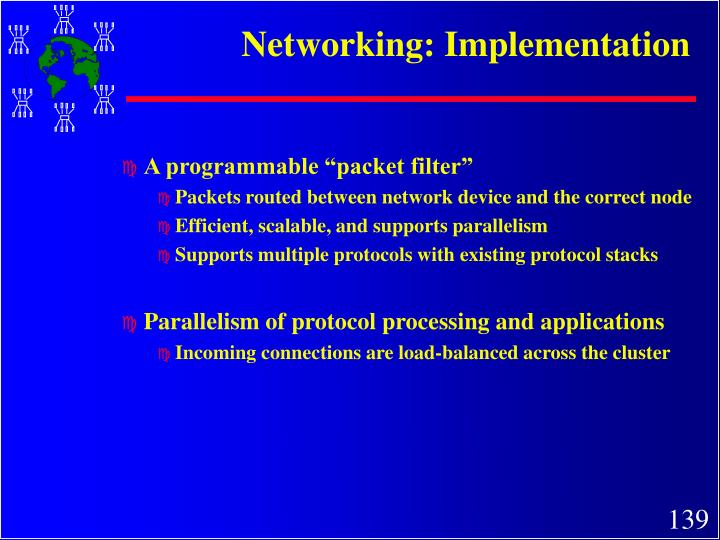 Networking: Implementation