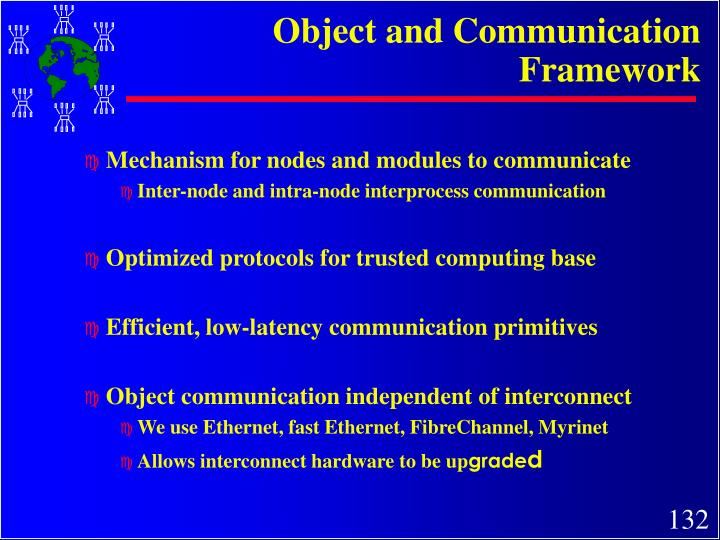 Object and Communication Framework
