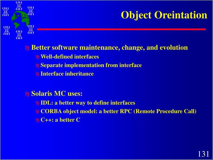 Object Oreintation