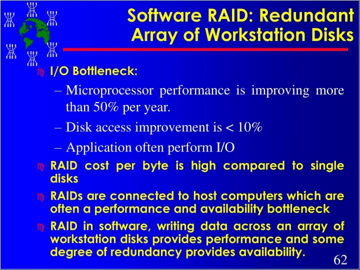 Software RAID: Redundant Array of Workstation Disks