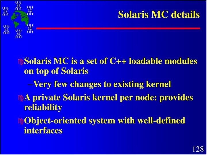 Solaris MC details