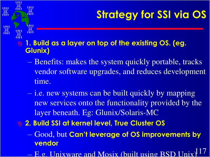 Strategy for SSI via OS