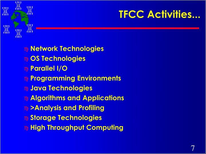 TFCC Activities...