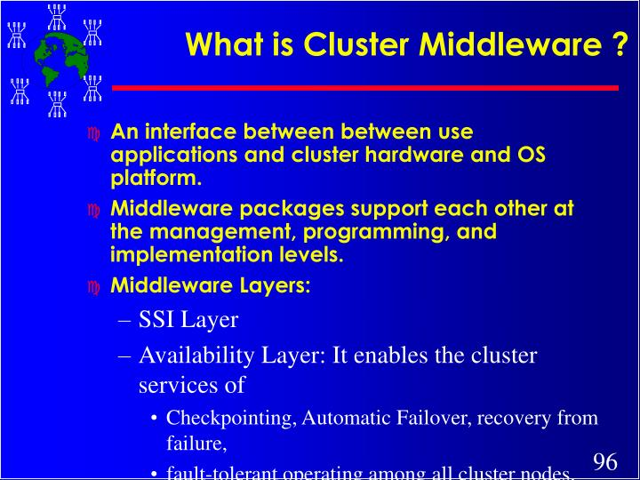 What is Cluster Middleware ?