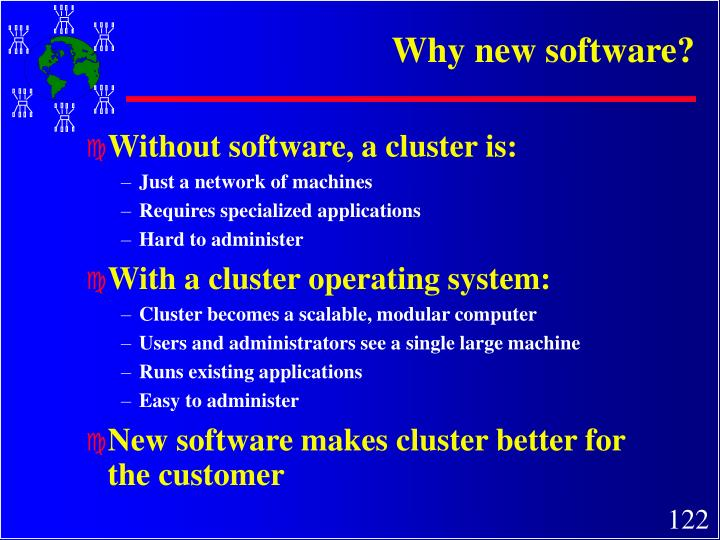 Why new software?