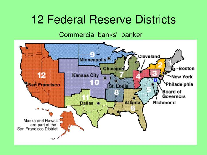 12 federal reserve districts