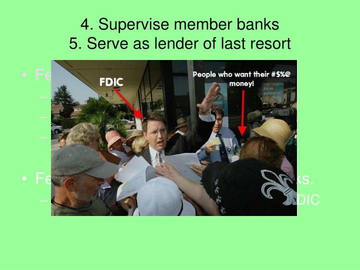 4. Supervise member banks