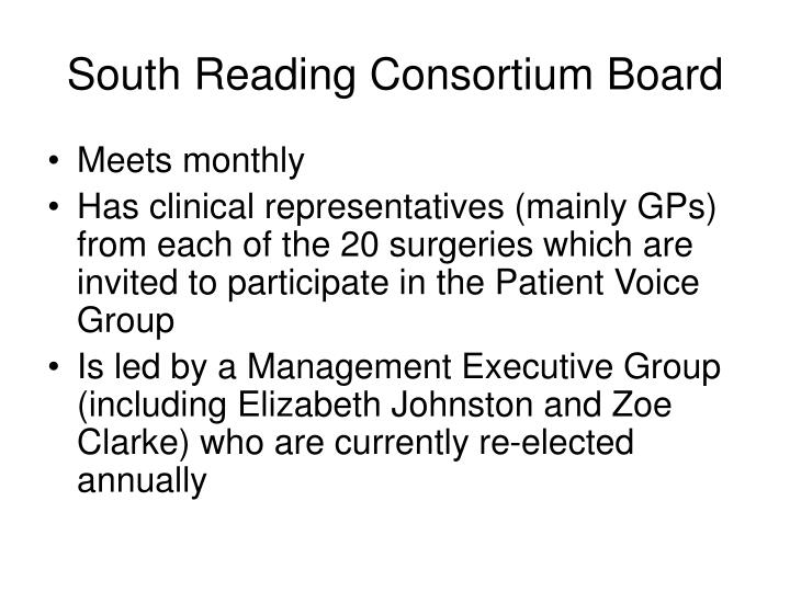 South reading consortium board