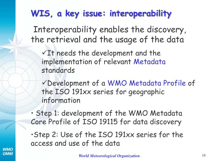 WIS, a key issue: interoperability