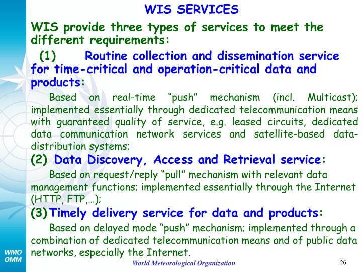 WIS SERVICES