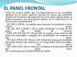 el panel frontal