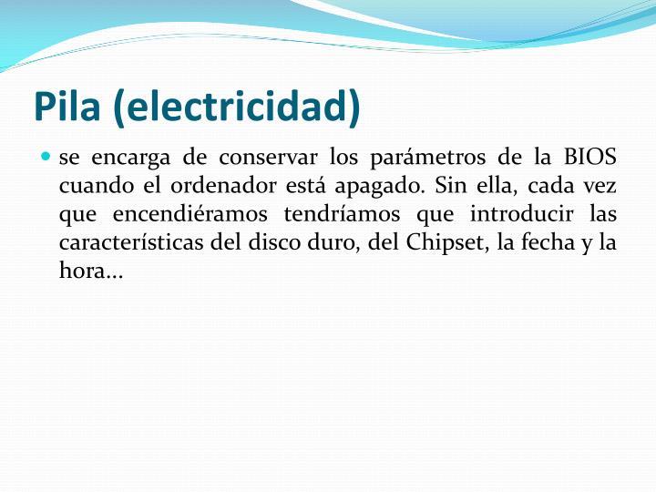 Pila (electricidad)