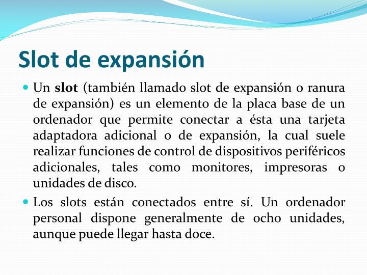 Slot de expansión