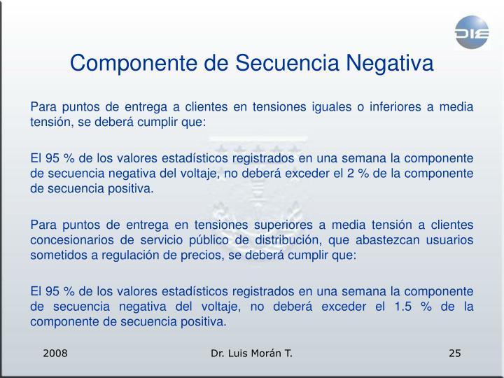 Componente de Secuencia Negativa