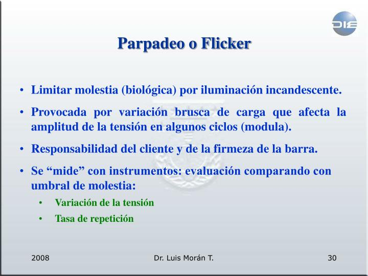 Parpadeo o Flicker