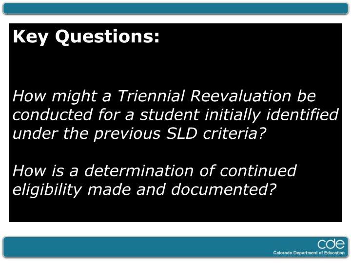 Key Questions: