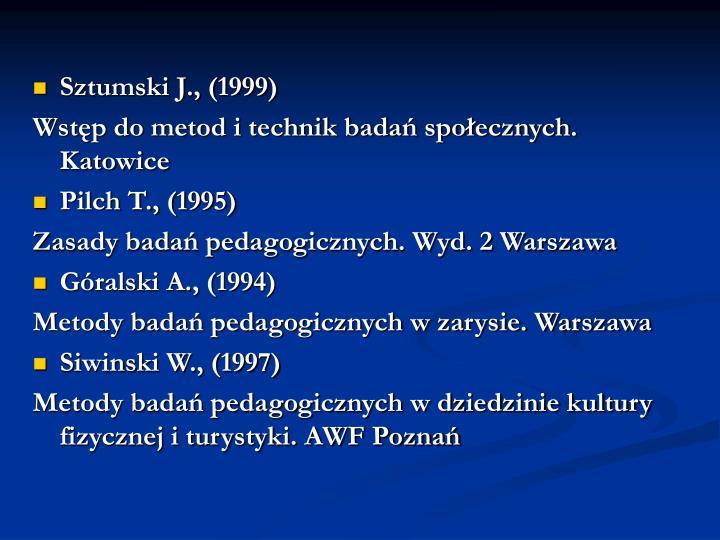 Sztumski J., (1999)