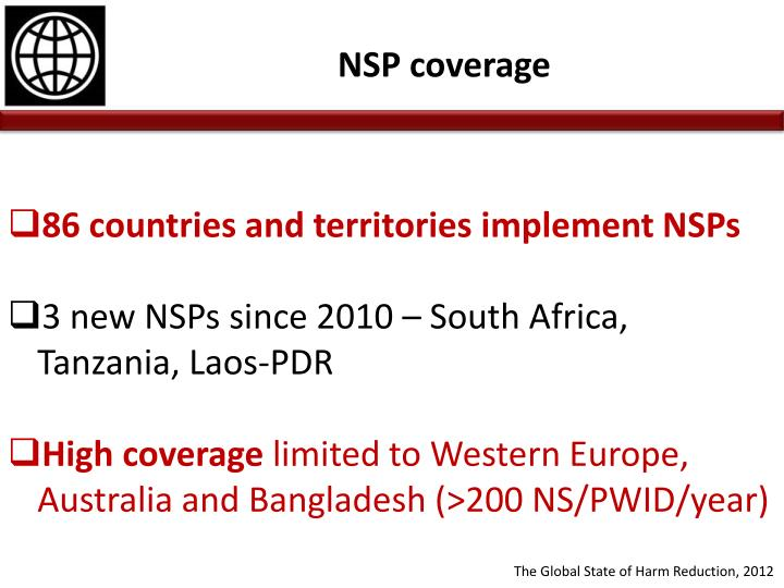 86 countries and territories implement NSPs