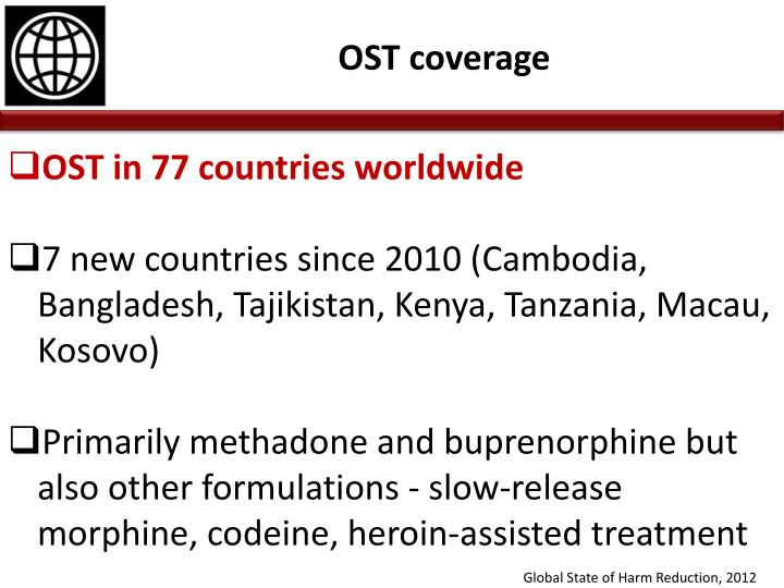 OST in 77 countries worldwide