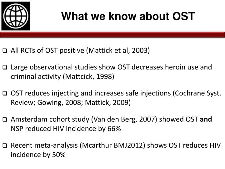 What we know about OST