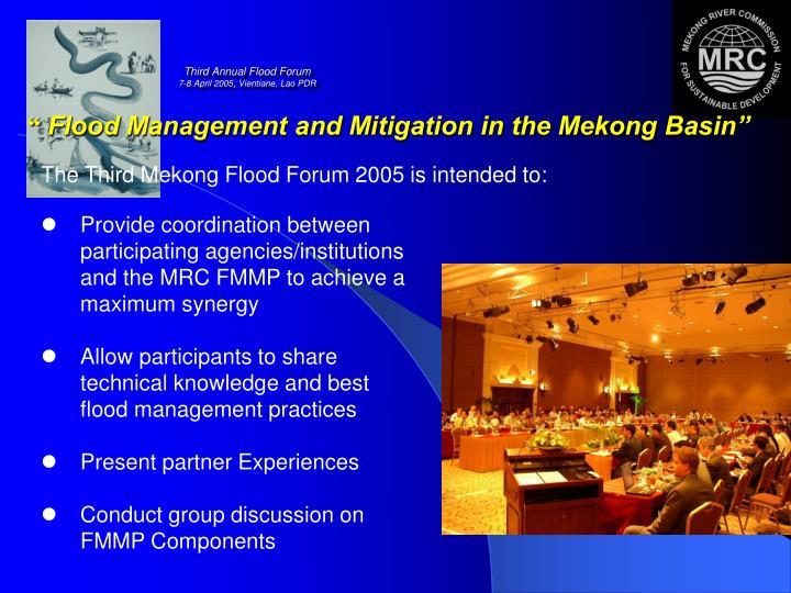 Third Annual Flood Forum