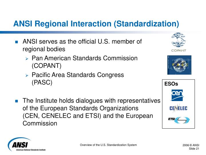 ANSI Regional Interaction (Standardization)