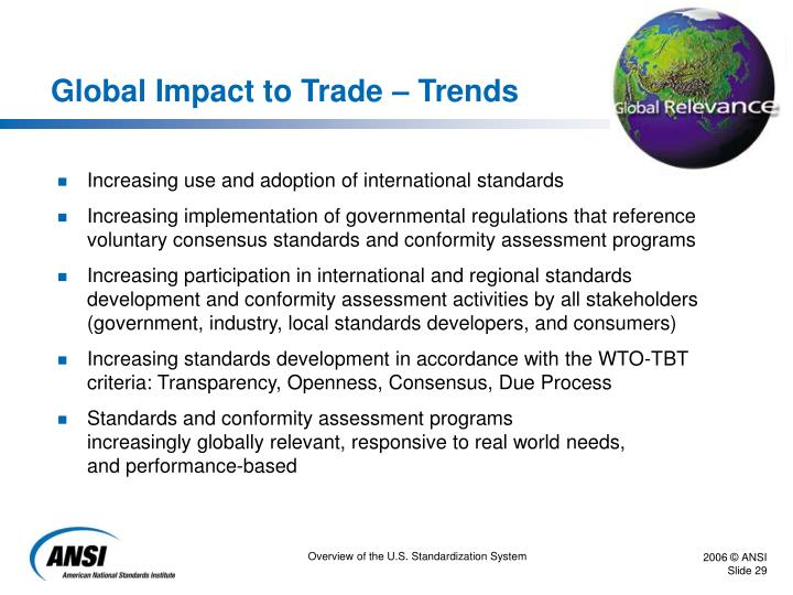 Global Impact to Trade – Trends