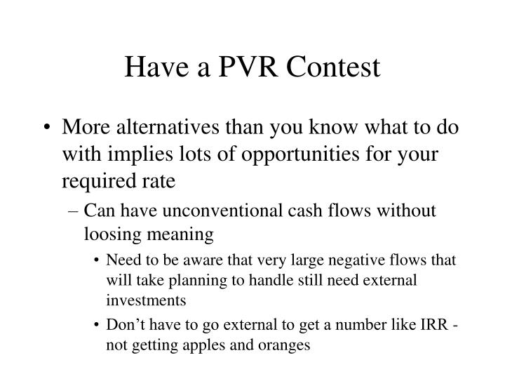 Have a PVR Contest