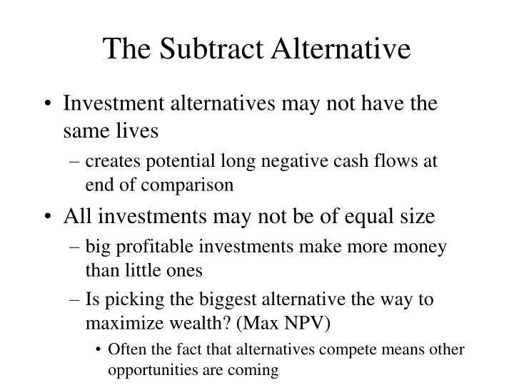 The Subtract Alternative