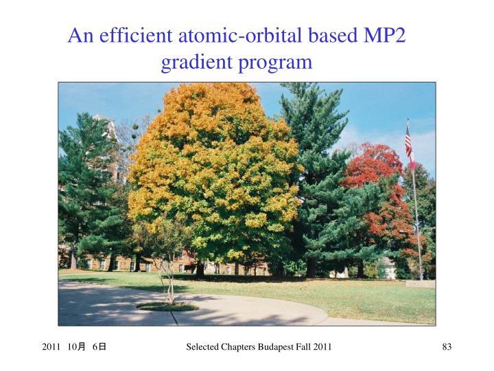 An efficient atomic-orbital based MP2 gradient program