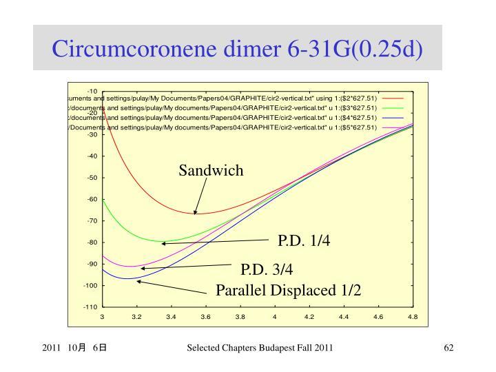 Circumcoronene dimer 6-31G(0.25d)