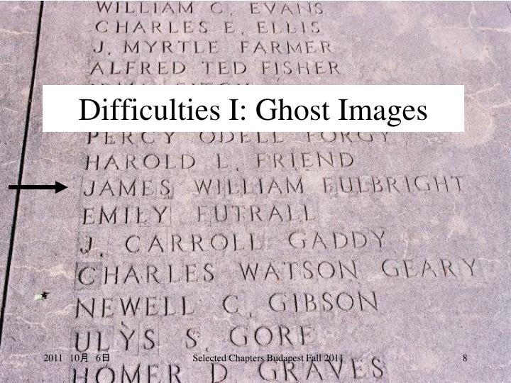 Difficulties I: Ghost Images