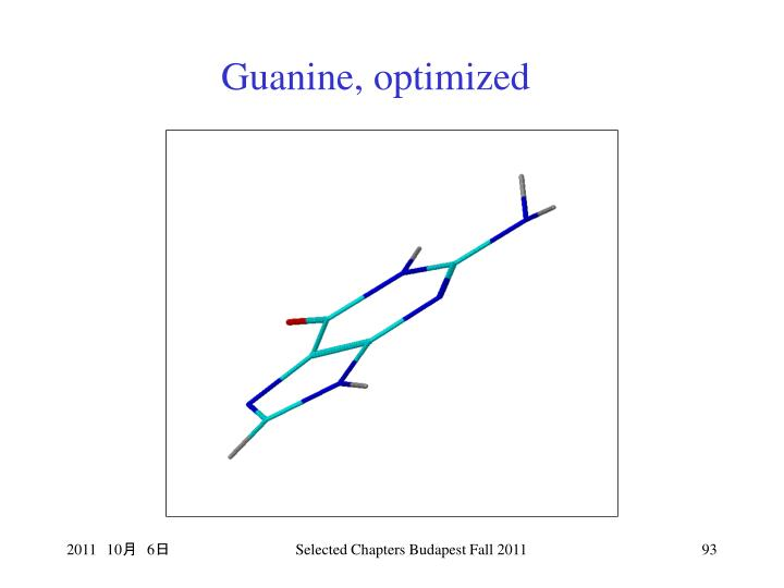 Guanine, optimized