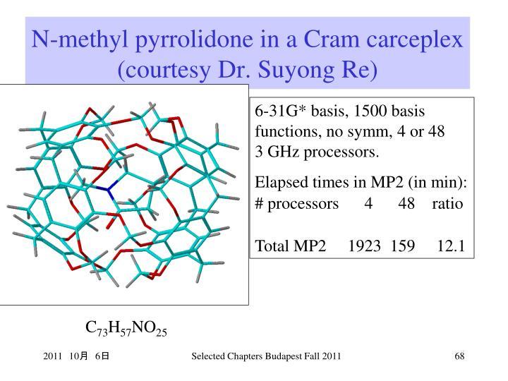 N-methyl pyrrolidone in a Cram carceplex (courtesy Dr. Suyong Re)