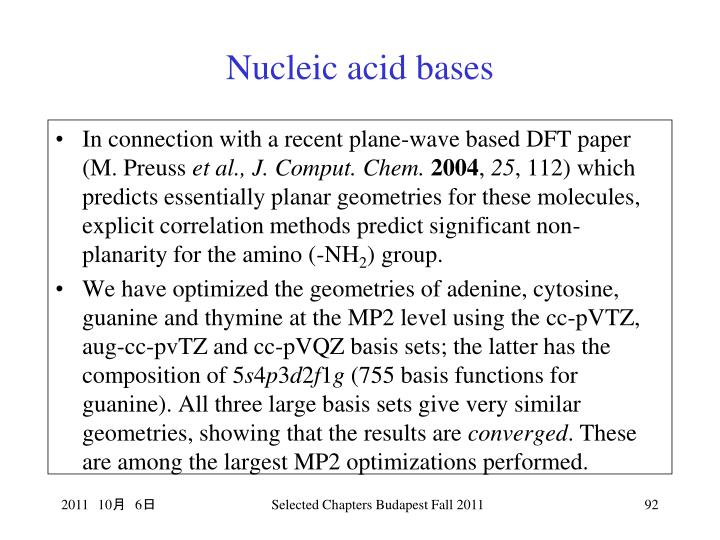 Nucleic acid bases