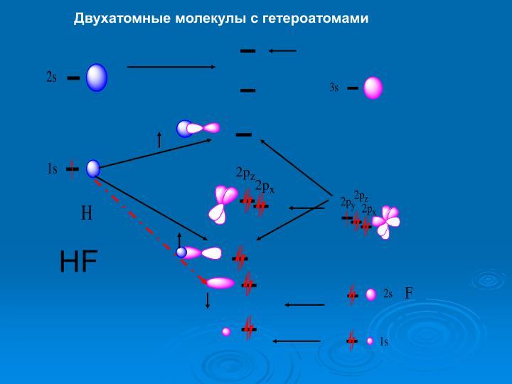 Двухатомные молекулы с гетероатомами