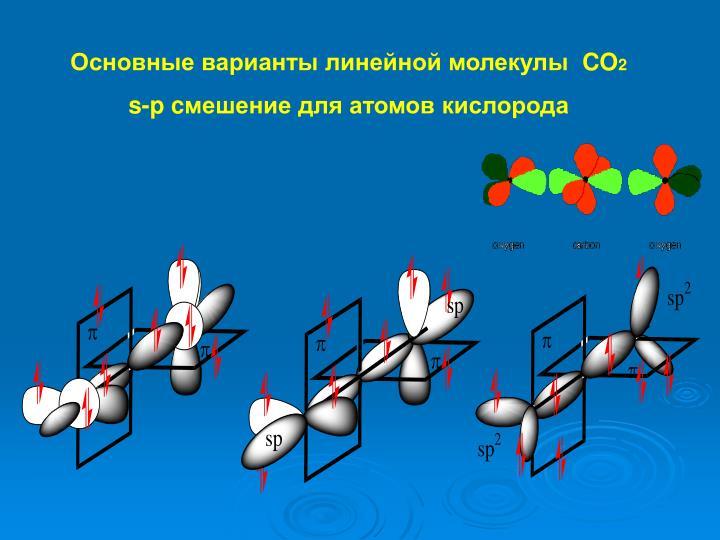 Основные варианты линейной молекулы