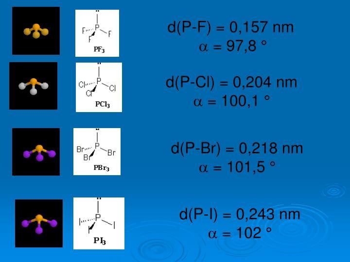 d(P-F) = 0,157 nm