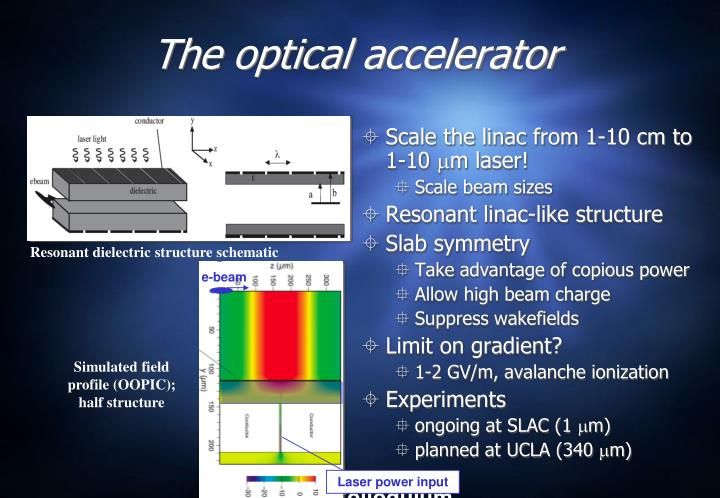 The optical accelerator