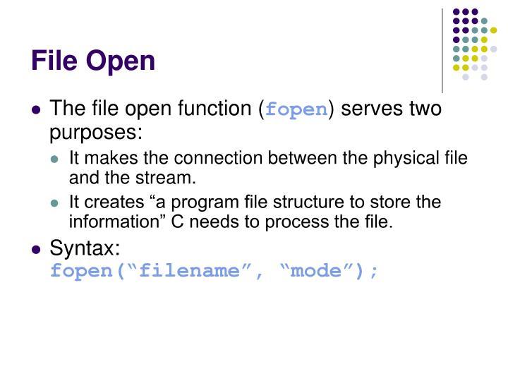File Open