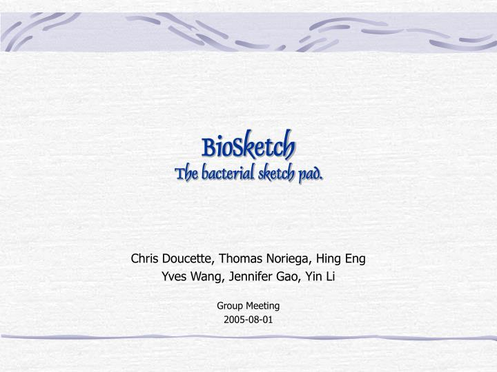 biosketch the bacterial sketch pad