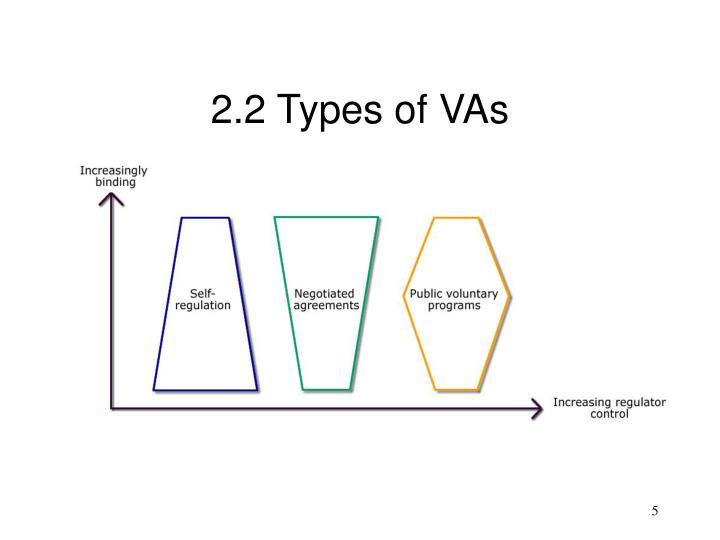2.2 Types of VAs