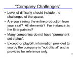 company challenges
