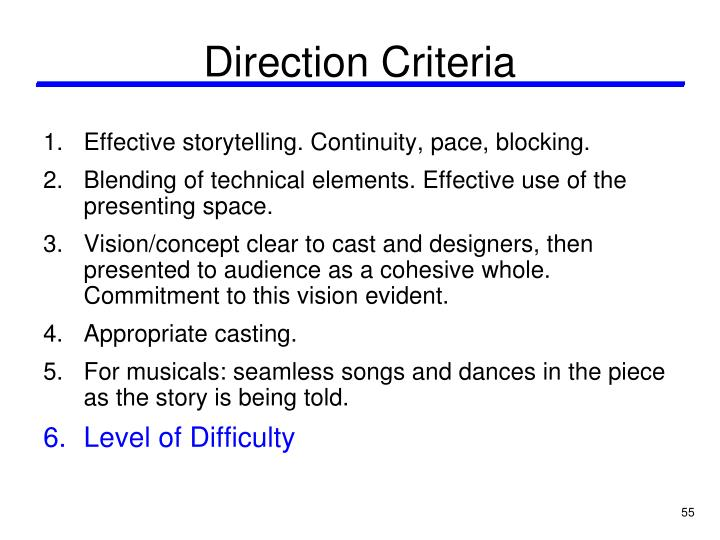 Direction Criteria