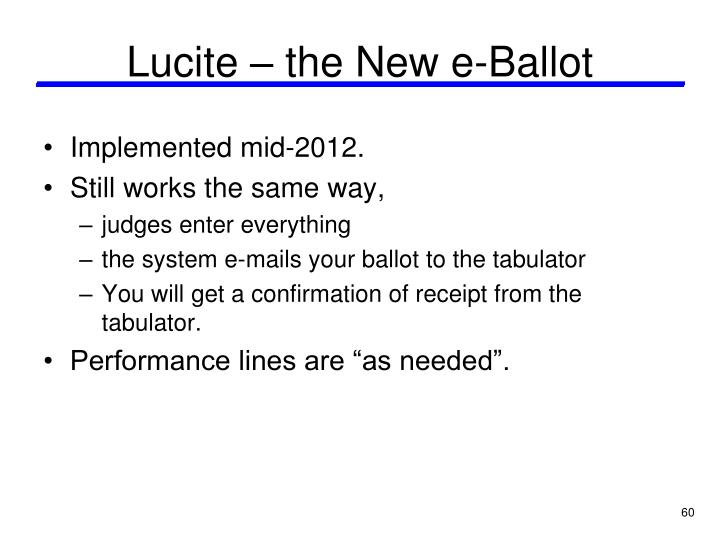 Lucite – the New e-Ballot