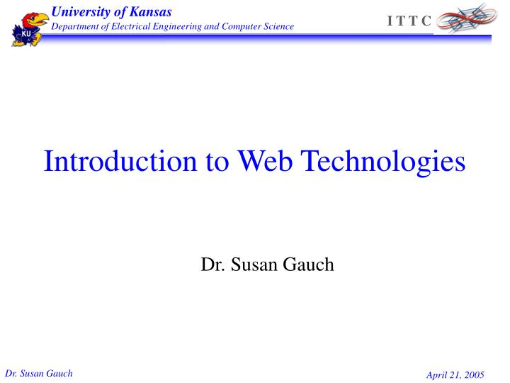 Introduction to web technologies