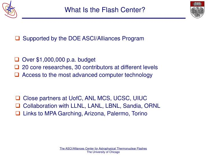 What is the flash center