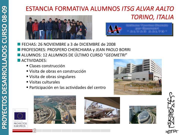 PROYECTOS DESARROLLADOS CURSO 08-09
