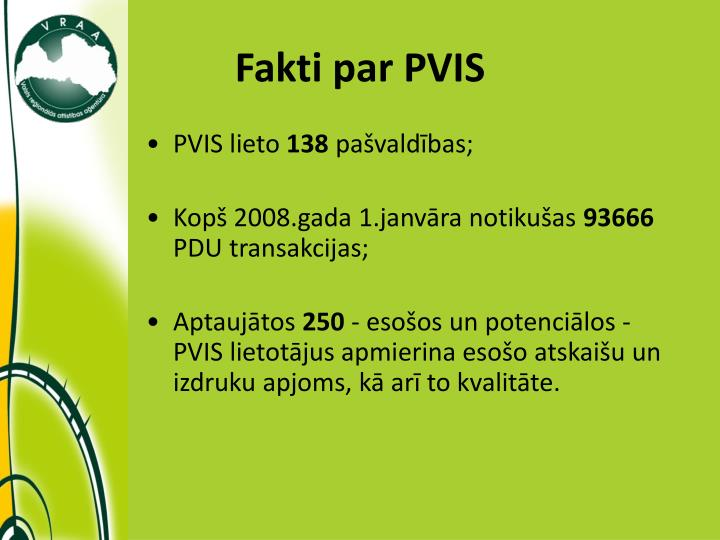 Fakti par PVIS