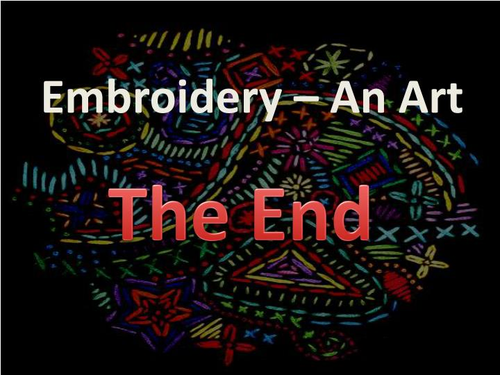 Embroidery – An